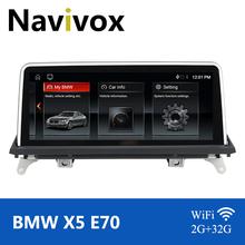 Navivox Android 10 0 samochodowy odtwarzacz DVD Radio dla BMW X5 E70 X6 E71 2007-2013 CCC CIC Multimedia Autoradio GPS samochód z nawigacją Stereo tanie tanio CN (pochodzenie) Double Din 10 25 4*45W System operacyjny Android 10 0 Jpeg 1280*480 3 5kg Bluetooth Wbudowany gps Telefon komórkowy