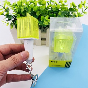 Image 2 - Kpop NCT Mini light stick KeyChain Lamp pendant hanging fluorescent stick Green hammer key chain official peripheral k pop NCT