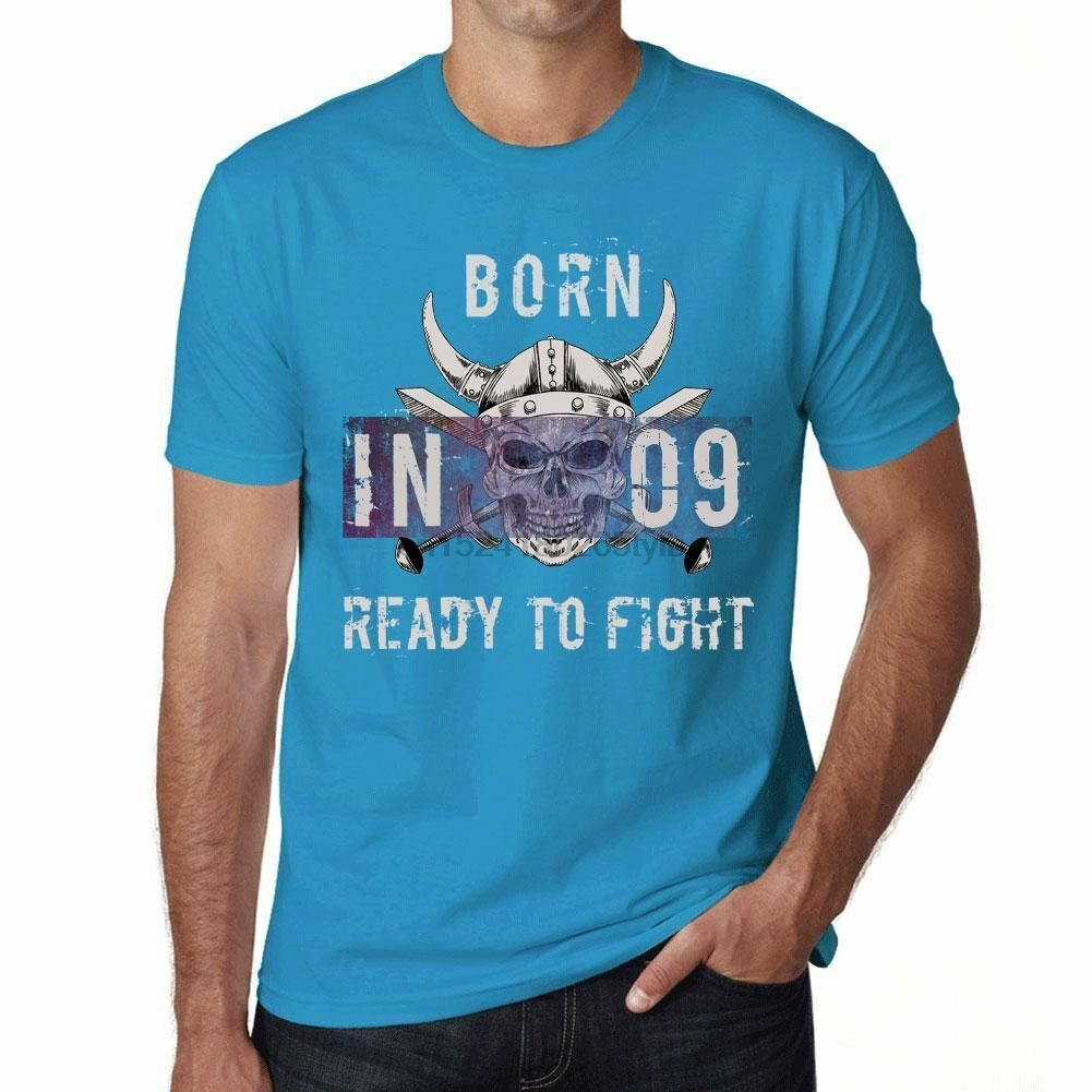 09 ready to fight mens t-shirt Blue Birthday Gift 00390