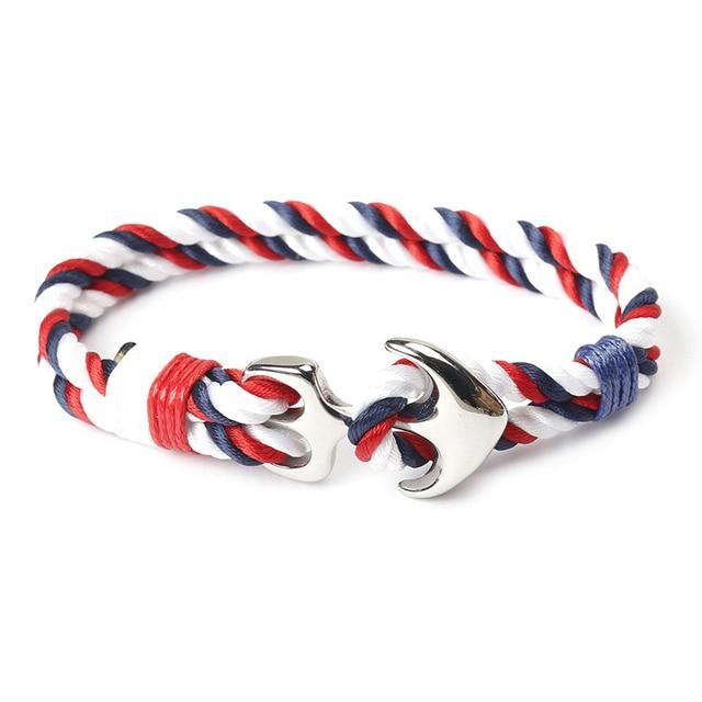 Bracelet corde nautique Viking ancre  4