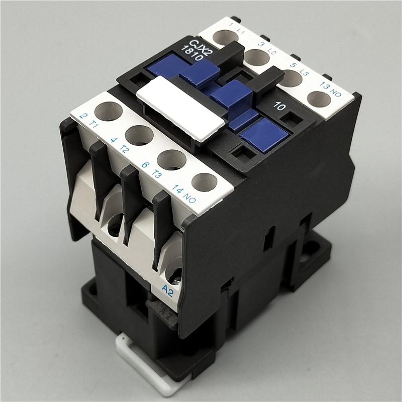 H80d237d2751949b4991684f5f0c0ad76l - 1pcs CJX2-1810 LC1 AC Contactor 18A 3 Phase 3-Pole Coil Voltage 380V 220V 110V 36V 24V 50/60Hz Rail Mounted 3P+1NO Normal Open