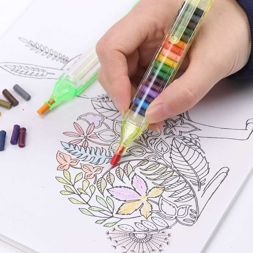 1PC/20 สีDIYเปลี่ยนได้ดินสอสีน้ำมันพาสเทลสีสร้างสรรค์ดินสอGraffitiปากกาสำหรับวาดภาพเด็กน่ารักเครื่องเขียน