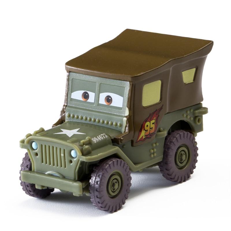 Disney Pixar Cars 3 2 Sarge Lightning McQueen Jackson Storm Ramirez Mater 1:55 Diecast Metal Alloy Model Cars Kid Gift Boy Toy