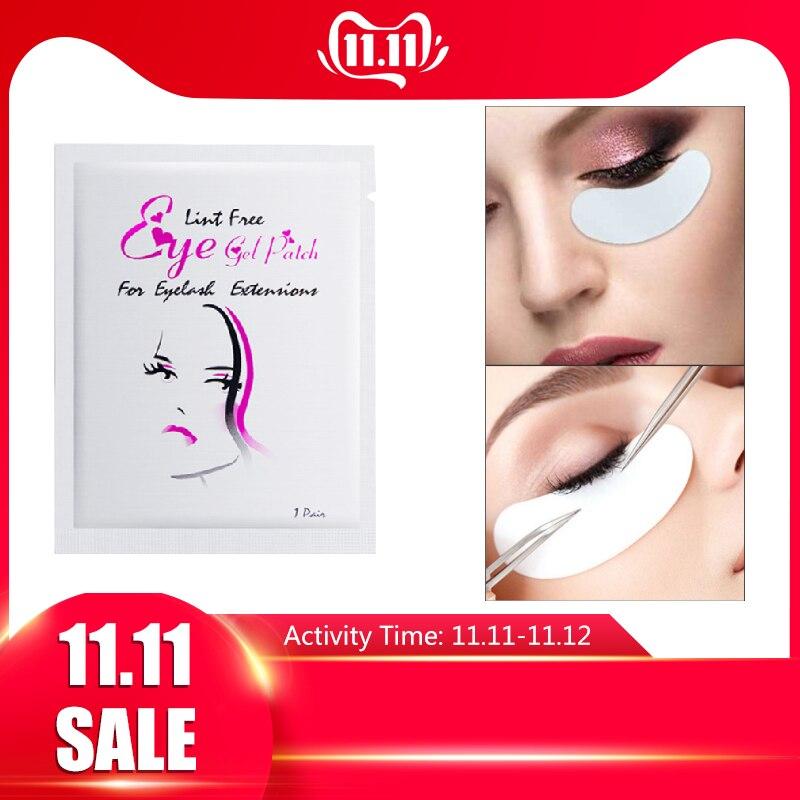 50 Pairs Lint Free Patches Eyelash Extension Eye Tips Sticker Wraps Under Gel Eyelash Pads Make Up Tools Eyes Masks BTZ1 TSLM2