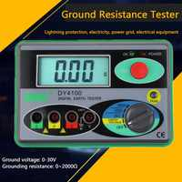 Megohmmeter 0-2000 Digital Earth Tester Ground Resistance Tester Lighting Protection Meter Real Digital Tester Earth Ground