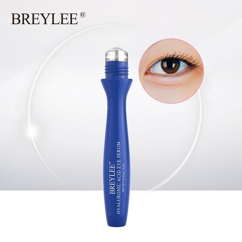 BREYLEE hiyalüronik asit Serum Roll-On nemlendirici göz kremi sıkılaştırıcı masaj Anti kırışıklık koyu daire şişlik cilt bakımı 15ml