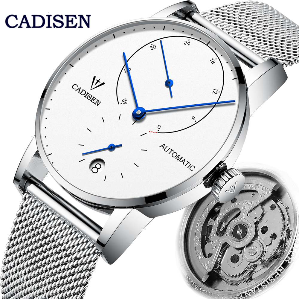 CADISEN Automatic Mechanical Seagulls Mens watches Top Brand  Luxury Fashion Sport Wristwatch Men Waterproof Energy Storage  ClockMechanical Watches