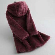 100% Wool Coat Real Fur Coat Female Sheep Shearling