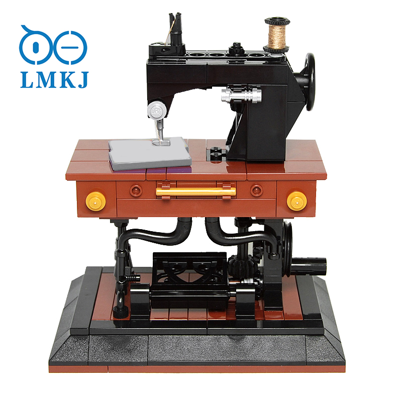 244 шт. моделирующая креативная модель швейной машины, совместимая с кубики Moc Toy, строительные блоки, технические блоки, кирпичи, игрушка «сде...