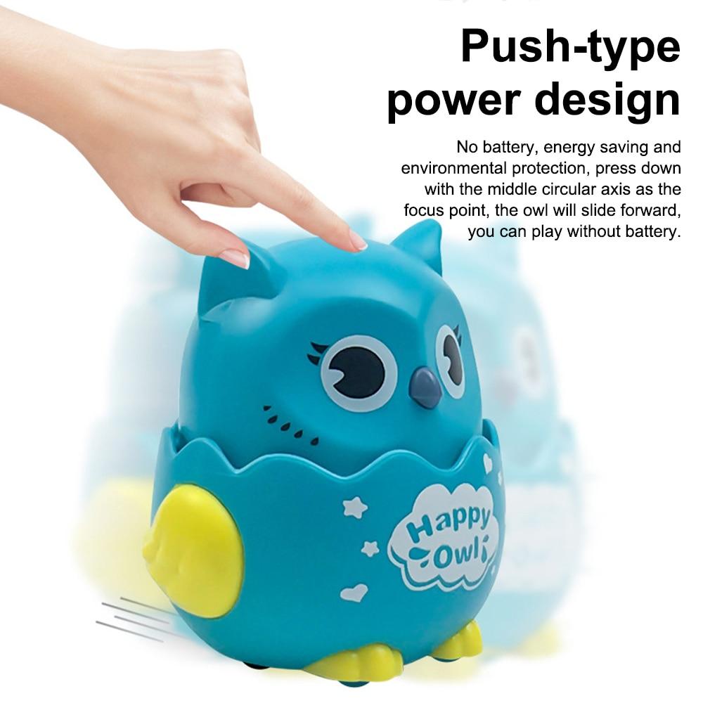 2PC Pressing inertial sliding 1 owl &1 snail toy freewheeling animals Kindergarten Children's Gift for Kids Educational toys 5