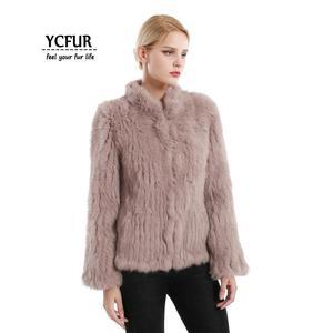 Image 3 - YCFUR vestes en fourrure véritable pour femmes, veste en fourrure de lapin épaisse tricotée pour femmes, veste dhiver pour femmes