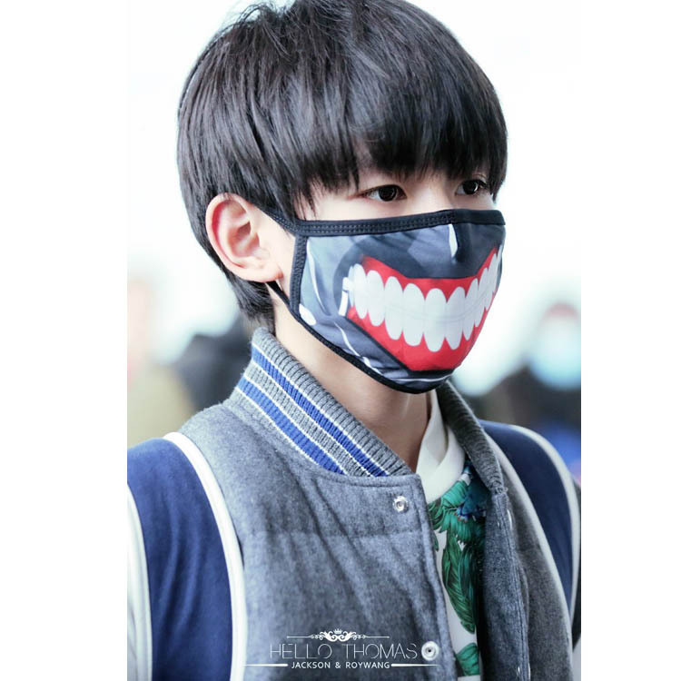 Comic Periphery Tokyo Ghoul Mask Winter 100% Cotton Mask  Dustproof Mouth Face Mask  Women Men Funny Party Mask Halloween Gifts