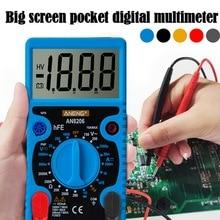 AN8206 /A830L cyfrowy multimetr Mini LCD duży ekran wyświetlacz wyjście fali Ampere napięcie miernik rezystancji zabezpieczenie przed przeciążeniem