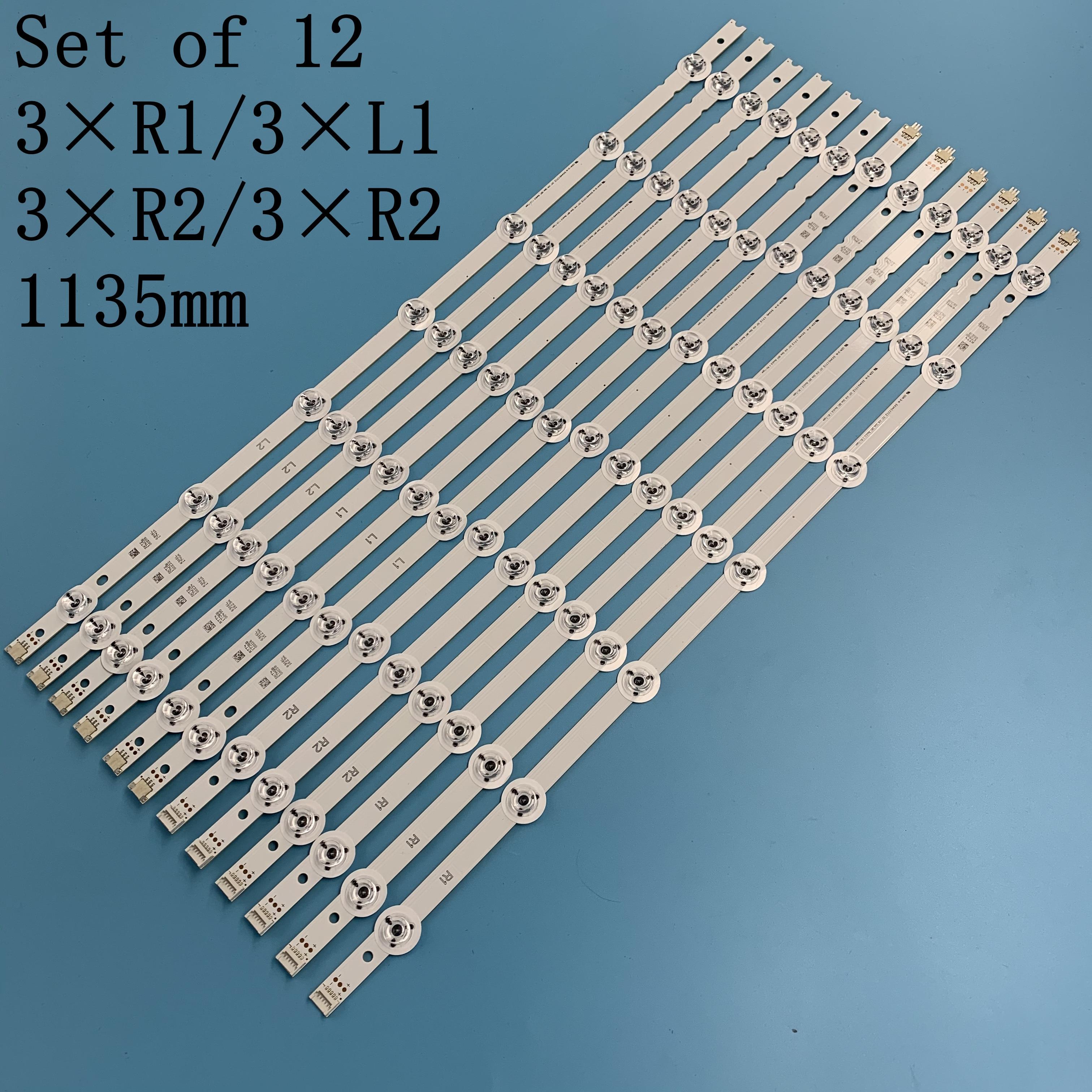12pcs LED Strip For LG 55'' 55LB671V 55LB673V 55LB675V 55LB677V 55LB679V 55LB690V 55LB700V 55LB720V 55LB730V 55LB7200 55LB670V