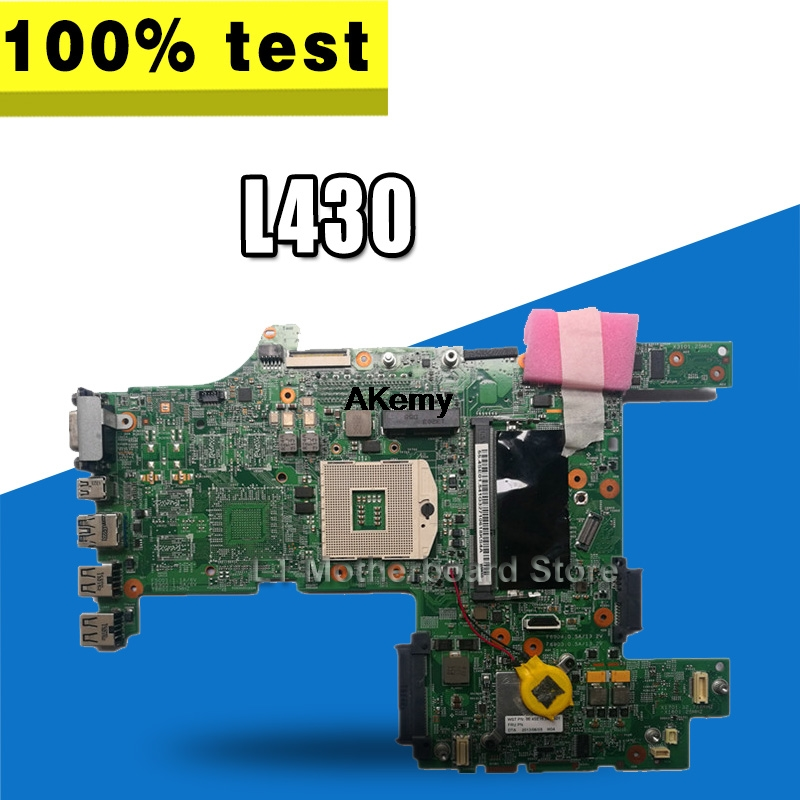 04W6671 Genuine For Lenovo ThinkPad L430 Laptop Motherboard System Board DDR3 GMA HD No Video Card
