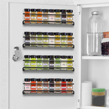 4PCS Punch-free Hanging Spice Organizer Shelves Cupboard Wall- Mounted Seasoning Spice Storage Rack Restaurant Kitchen Supplies