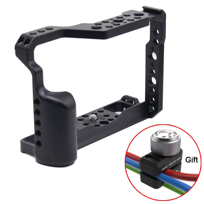 Metal Camera Cage Rig For Fujifilm Fuji X-T3 XT3 Cold Shoe Mount Arca-Style Quick Release Mount With Top Handle Grip
