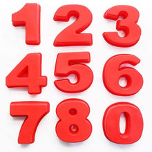9 шт. весь набор большой силикон номер плесень цифры формы для выпечки тортов лотки для вечеринок и свадебных церемоний 4/10 дюймов (10/25 см) Фор...