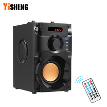 A100 Wireless Bluetooth Speaker Portable Speaker Music Player Subwoofer Stereo Surround FM TF AUX USB Remote Control leory 220v bluetooth speaker led light display 15inch big power subwoofer speaker with mic tf remote control player