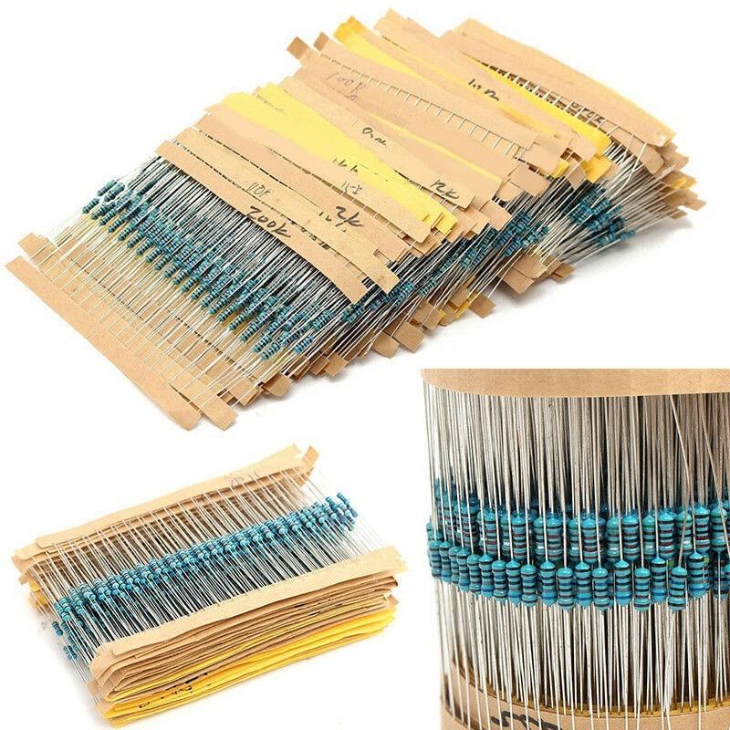 TZT 3120pcs 156 Values 1/4W 1% Metal Film Resistors Assortment Kit Set 1 Ohm-10M Ohm
