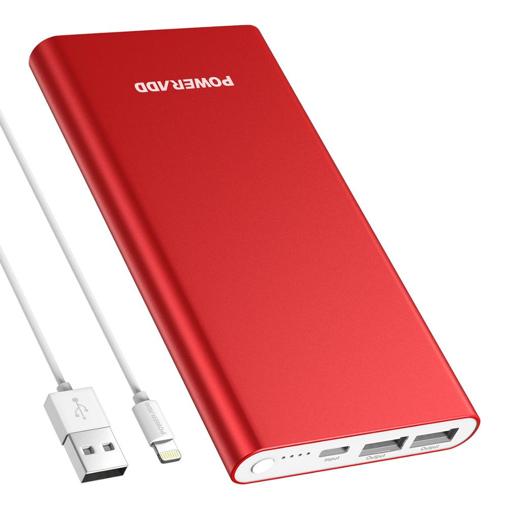 Poweradd <font><b>12000mAh</b></font> Power Bank Quick Charge 3.0 Powerbank For Xiaomi <font><b>Smartphone</b></font> Portable Charger Dual Ports External Battery Pack image