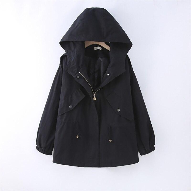 Pregnancy Clothes Outerwear Hooded Long Sleeves Zipper Pockets Women Winter Coat Casual Autumn Windbreaker Jacket Coat