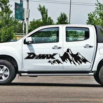pickup car body stickers side door stripe moutain off road graphic Vinyl car sticker for d-max