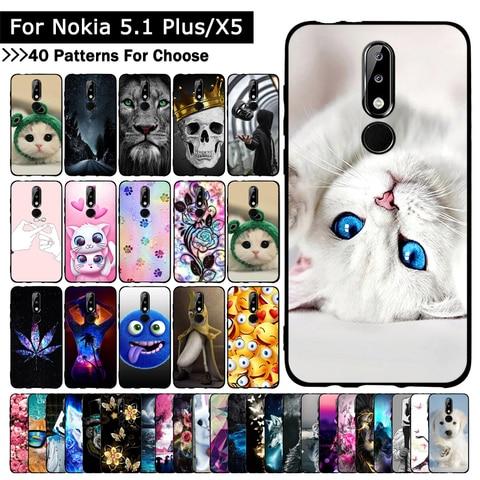 Luxury Silicone Case for Nokia 5.1 Plus/X5 Cartoon Protective cases for nokia5.1 plus mobile phone covers for Nokia 5.1Plus capa Pakistan