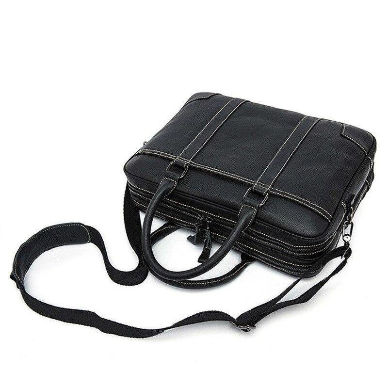2020 Genuine Leather Male Package Business Affairs Head Layer Cowhide Handbag Man Briefcase Single Shoulder Satchel computer bag