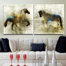 Lienzo nórdico pintura al óleo Animal arte de pared caballo Vintage carteles e impresiones cuadros de pared para la decoración de la sala de estar decoración del hogar