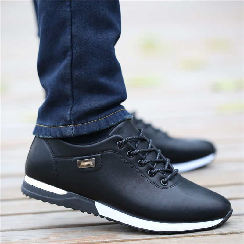 Man Outdoor Breathable Sneakers Male Fashion Loafers Walking Footwear Tenis Feminino Men's PU Leather Business Casual Shoes For