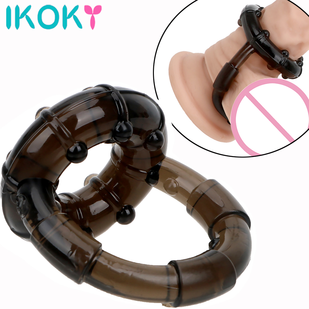 IKOKY Erotic Male Masturbation Penis Ring Sex Toys For Men Cock Ring Delay Ejaculation