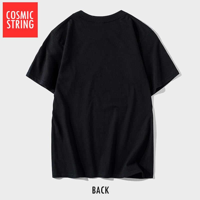 Cuerda cósmica de manga corta geek corazón hombres camiseta casual o-cuello hombres camiseta suelta Camiseta Hombre Camisetas CR-B0104