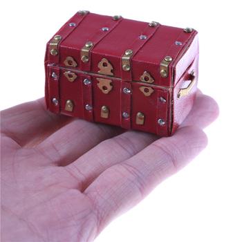 Nowy 1 12 miniaturowy Vintage drewniany łuk pokrywa pojemnik na bagaże Case Doll miniaturowy domek akcesoria gorąca sprzedaż tanie i dobre opinie MYPANDA Dorośli 12-15 lat 8-11 lat 5-7 lat CN (pochodzenie) Drewna Dollhouses As description Doll House Case Box Unisex