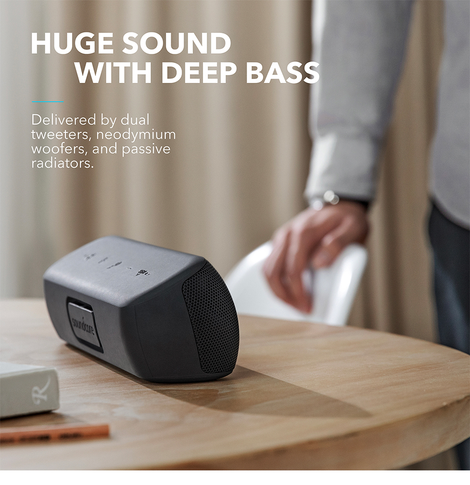 Anker Soundcore Motion+ Bluetooth Speaker with Hi Res 30W Audio, Extended Bass