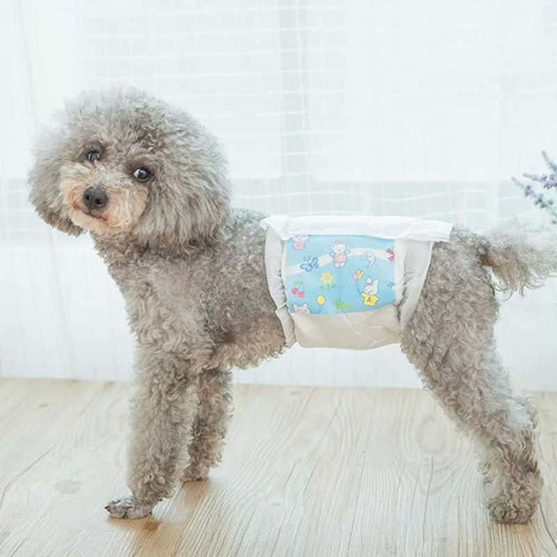 Pet Dog Disposable 12/10/8/6 PCS/Bag Dog Wrap Diapers For Male Dog Super Absorbent Leak Protection Pants For Small Dogs Diapers