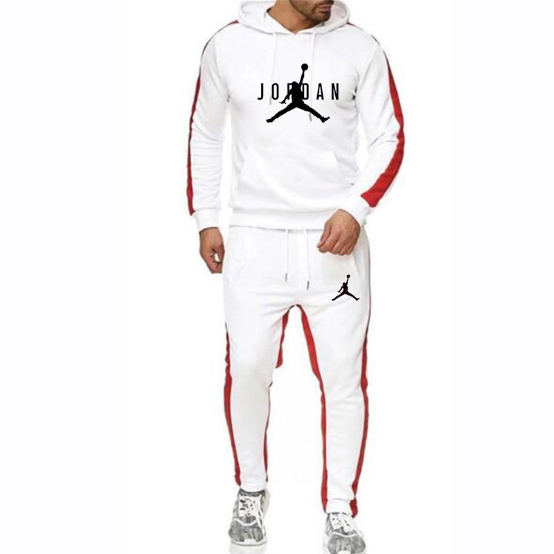 2019 Winter Tracksuit Men Set Thermal Hooded Sweatshirts Set  Fleece Hoodies Sportswear Set Sweatpants Hoodies Men's 2 Piece Set