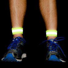 2 шт./компл. светоотражающий, безопасный ремешок Регулируемый наручные ног лодыжки на ремне Предупреждение пояса браслет ночных пробежек безопасности 2