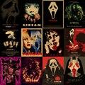 Классический фильм «крик» из фильма «ужасы», плакат из крафт-бумаги для украшения дома, печать, декоративное настенное искусство, декор