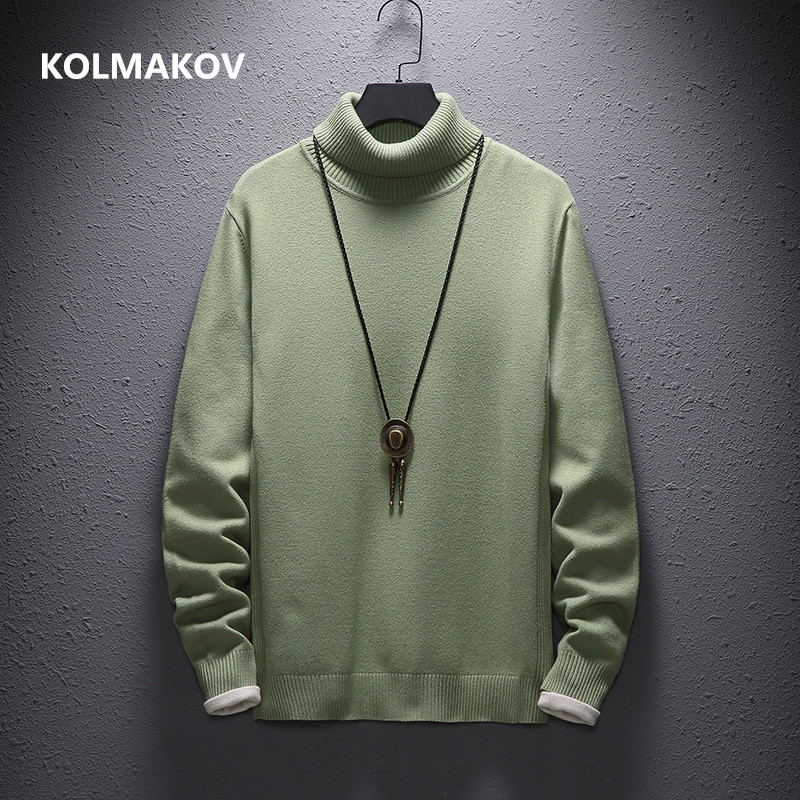 Cashmere Sweater Men Casual Fashion Men's Turtleneck Sweaters High Quality Warm Knitting Shirt Wool Pullover Men M-4XL,5XL