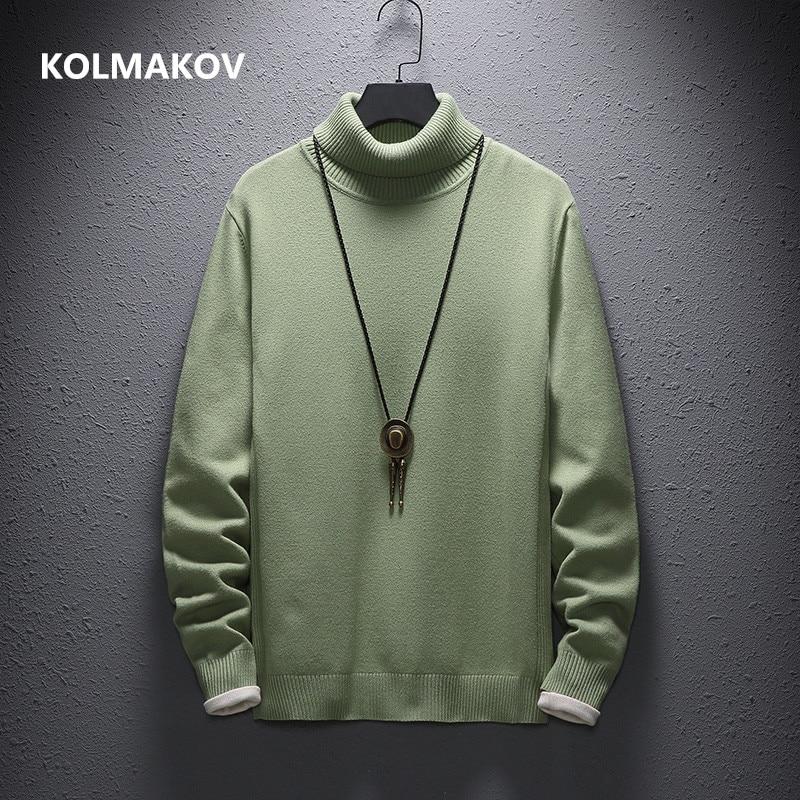 Cashmere Sweater Men Casual fashion men's Turtleneck Sweaters high quality Warm knitting Shirt Wool Pullover men M-4XL,5XL