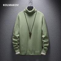 Cashmere Sweater Men Casual fashion men's Turtleneck Sweaters high quality Warm knitting Shirt Wool Pullover men M 4XL,5XL