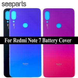 Redmi Note 7 Pro Battery Cover Rear Door Back Housing Case Middle Chassis Replacement Parts For Xiaomi Redmi Note 7 Back Cover