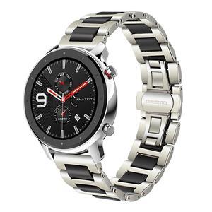 Image 2 - Keramische + Rvs Horlogeband voor Huami Amazfit GTR 47mm 42mm Mannen Vrouwen Watch Band Quick Release Strap pols Riem Armband