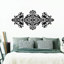 Nuevo Vintage pegatina de cabecera para pared estilo barroco diseño Mandala flor vinilo pegatinas de pared dormitorio papel tapiz Interior