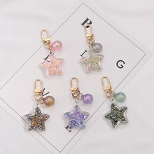 New 2019 star Keychain Zinc Alloy Star Shaped Keychains Metal Keyrings Five Pointed Key chain Give a small gift
