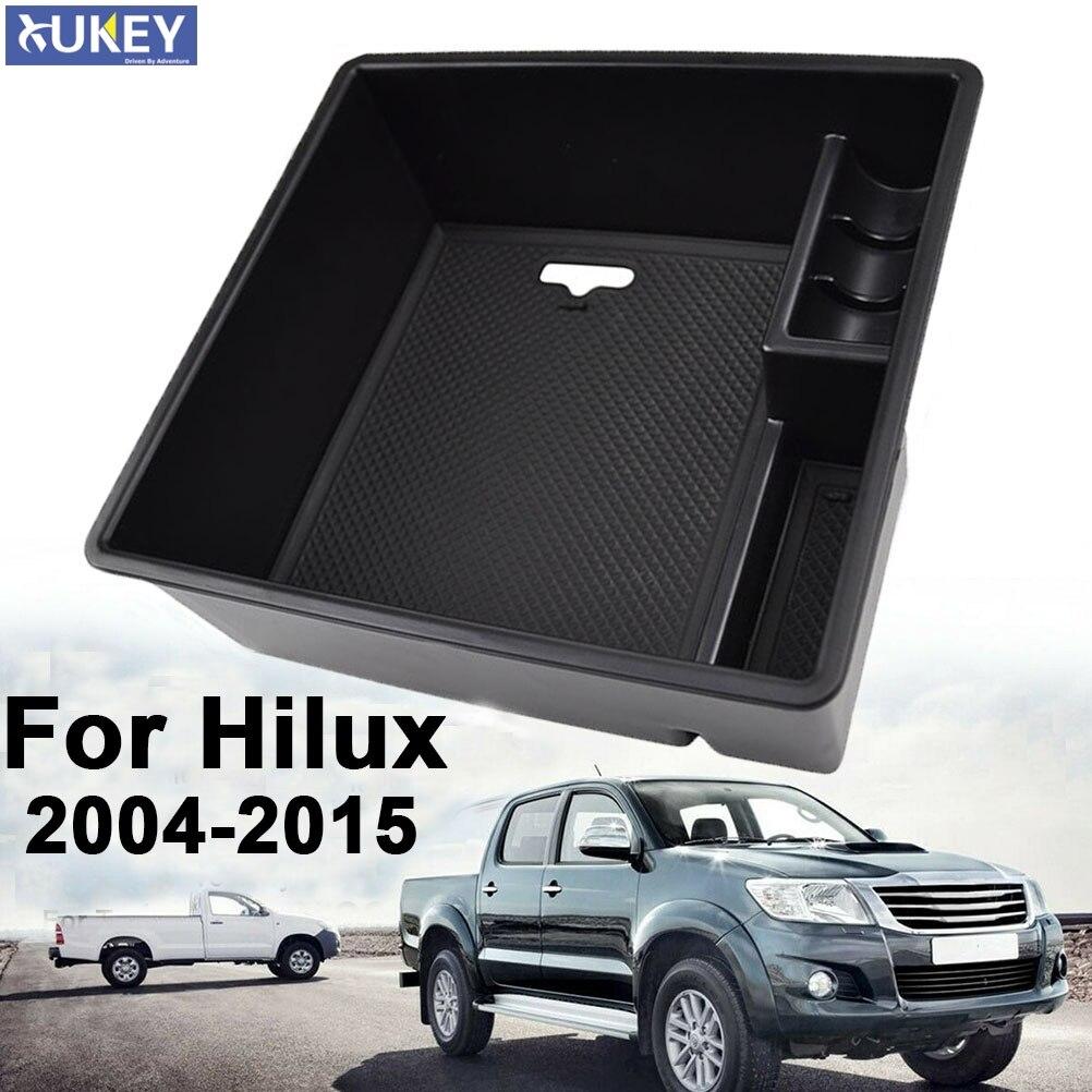Подлокотник для хранения в центре для Toyota Hilux AN10 AN20 AN30 2004 2015 2012 2013 2014 контейнер органайзер для консоли держатель для монет Подлокотники      АлиЭкспресс