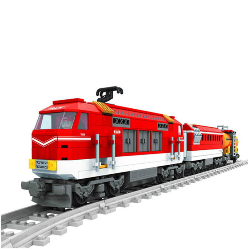 588Pcs Compatible With Legoinglys City Series Train With Tracks Building Blocks Railroad Kids Model Bricks Toys For Children