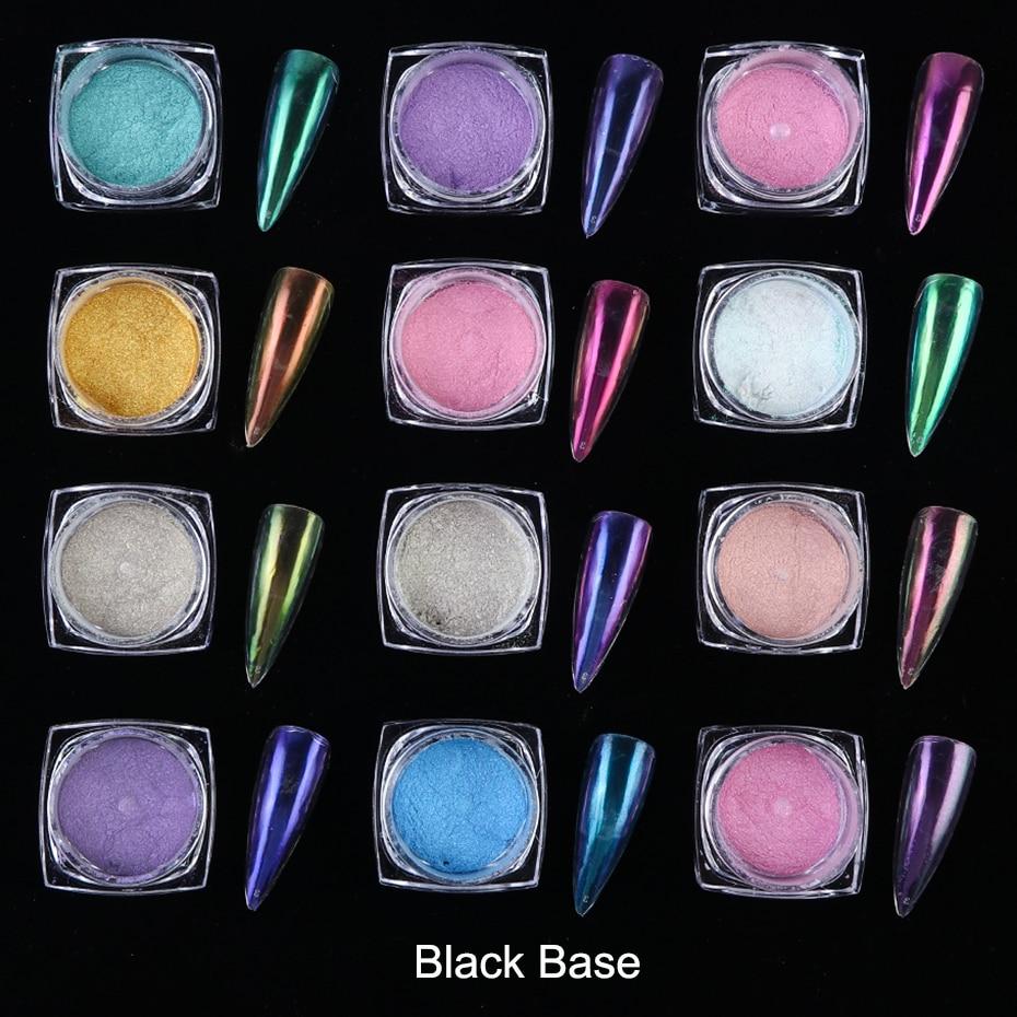 0.5g Mirror Nail Glitter Powder Transparent Ice Nude Chameleon Dust UV Gel Pigment Aurora Powder Nail Art Decorations BEJK01-12 (5)