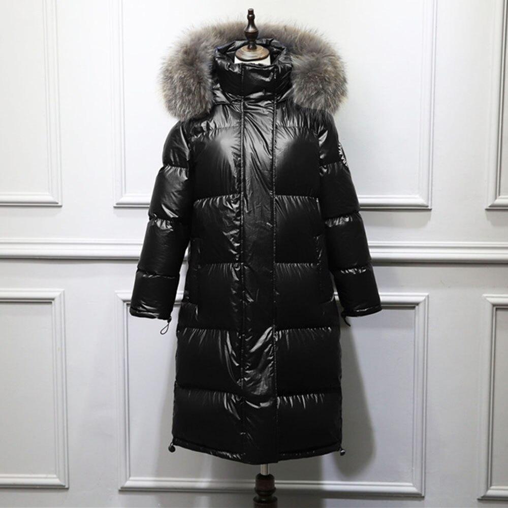 Generic Mens Outdoor Coats Winter Hoodie Thicken Faux Fur Hood Down Jacket